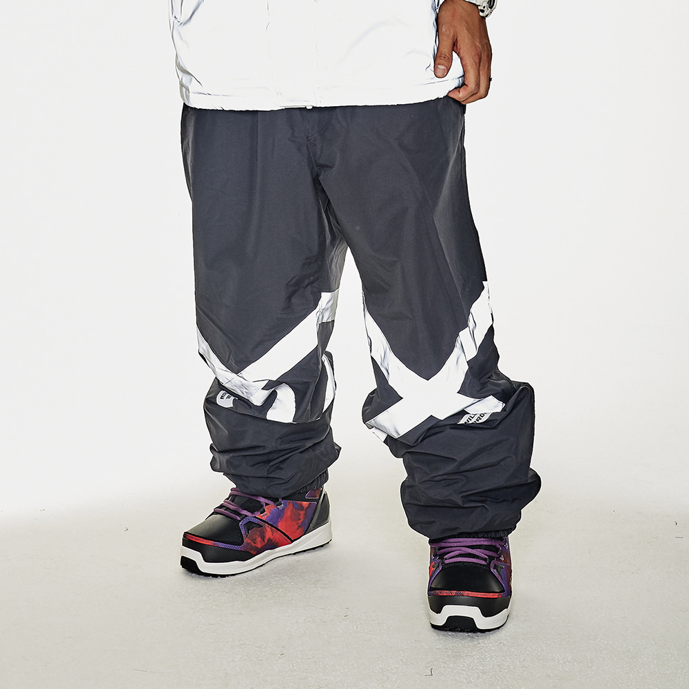 POT-X REFLECTIVE JOGGER PANTS BLACK