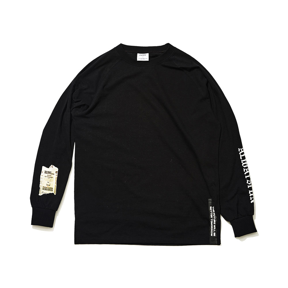 ALWAYSFUN LONG SLEEVE TEE BLACK