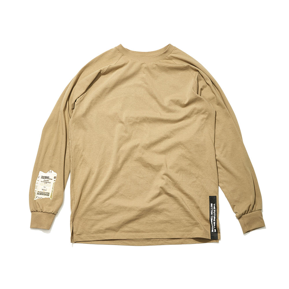 ALWAYSFUN LONG SLEEVE TEE BEIGE