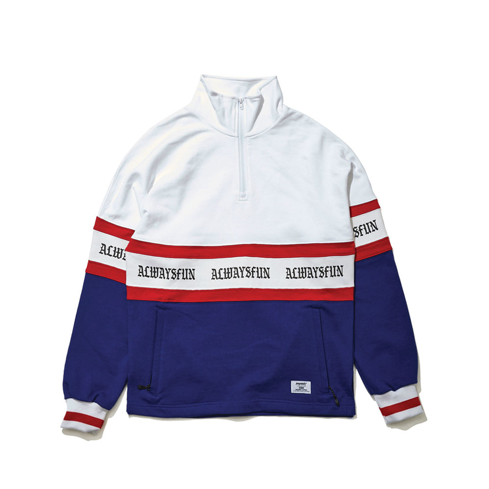 AWF HN ZIPUP PULLOVER WHITE