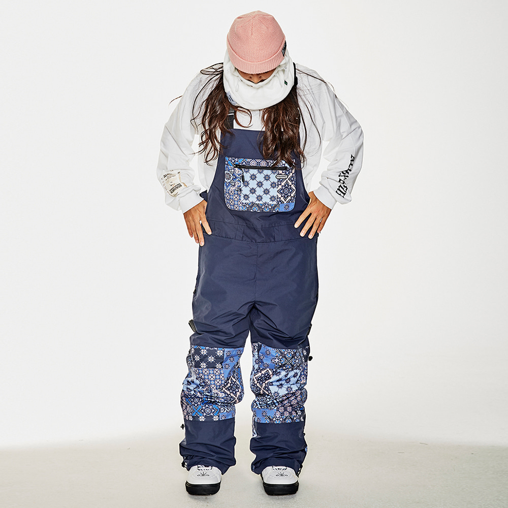 BSR INCREDIBLE TRANSFORM BIB PANTS PAISLEY NAVY