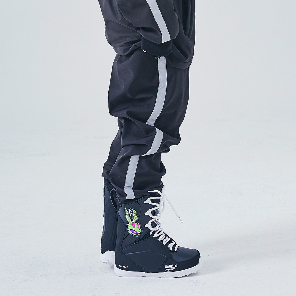 WATERPROOF LOGO JOGGER PANTS BLACK