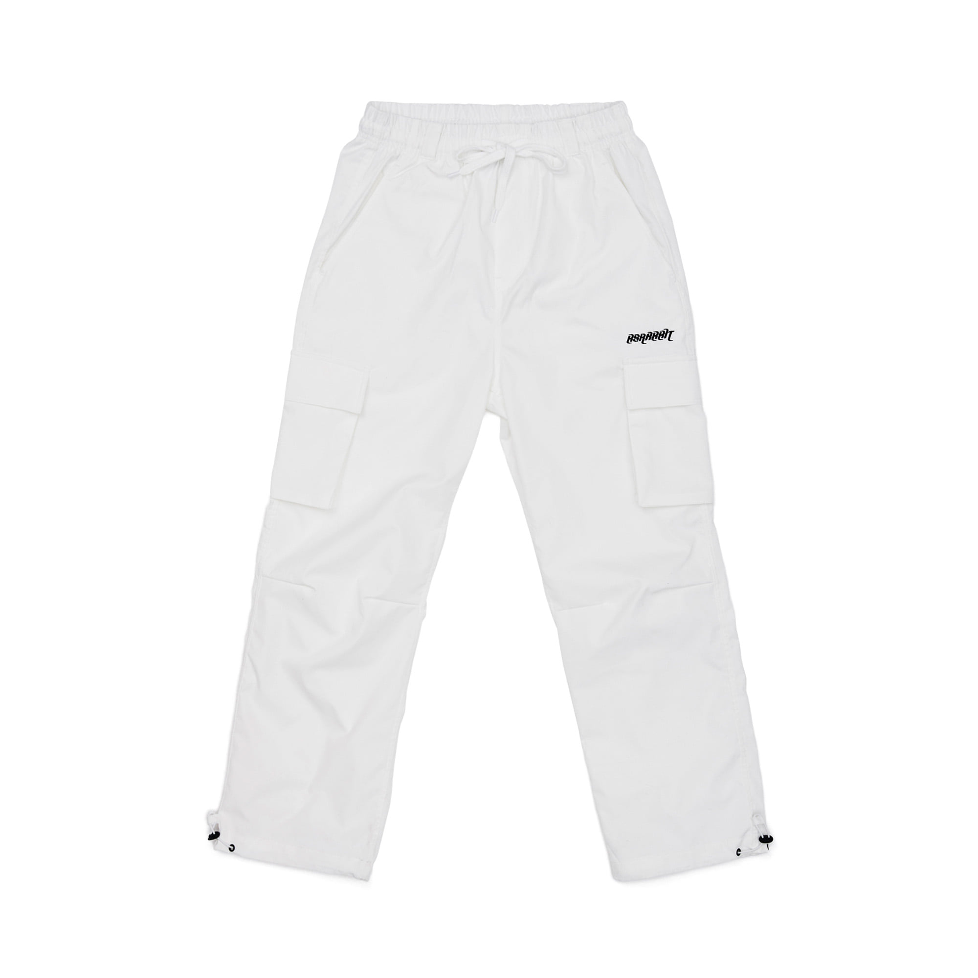 BSRBT STRETCH TWILL CARGO TRACK PANTS WHITE
