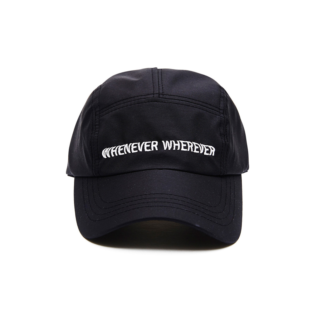WEWE 5 PANNEL CAMP CAP BLACK