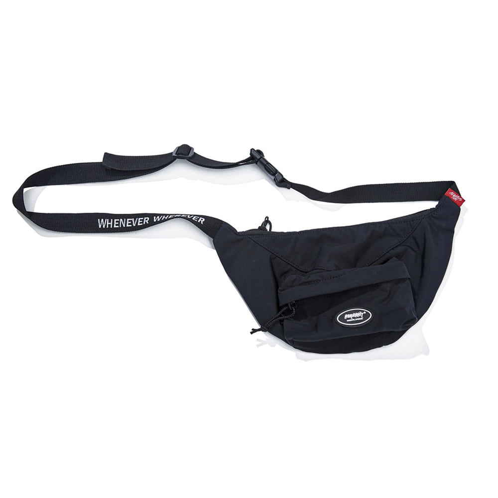 LOGO POCKET WAIST BAG BLACK