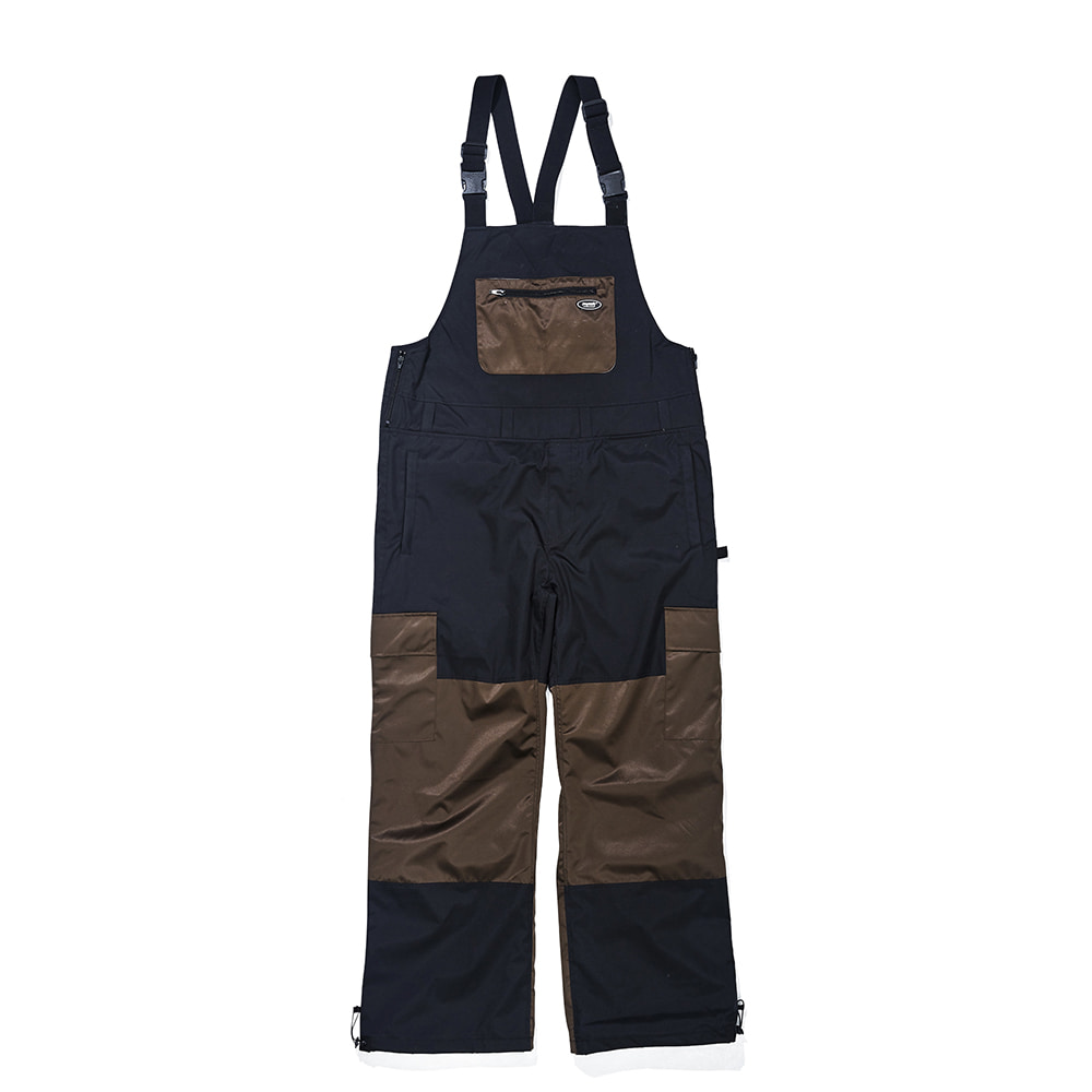 BSR SHINE BIB PANTS BLACK