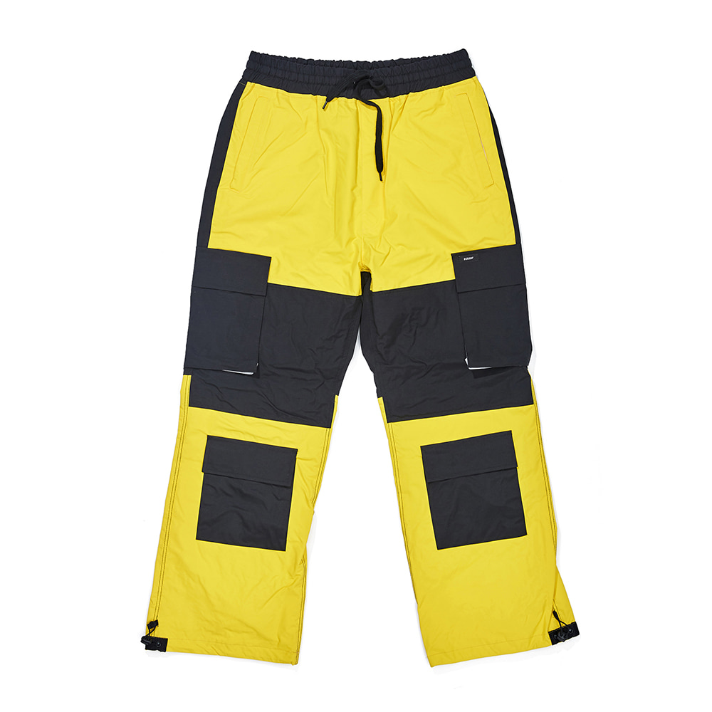 CARGO POCKET BOX TRACK PANTS YELLOW