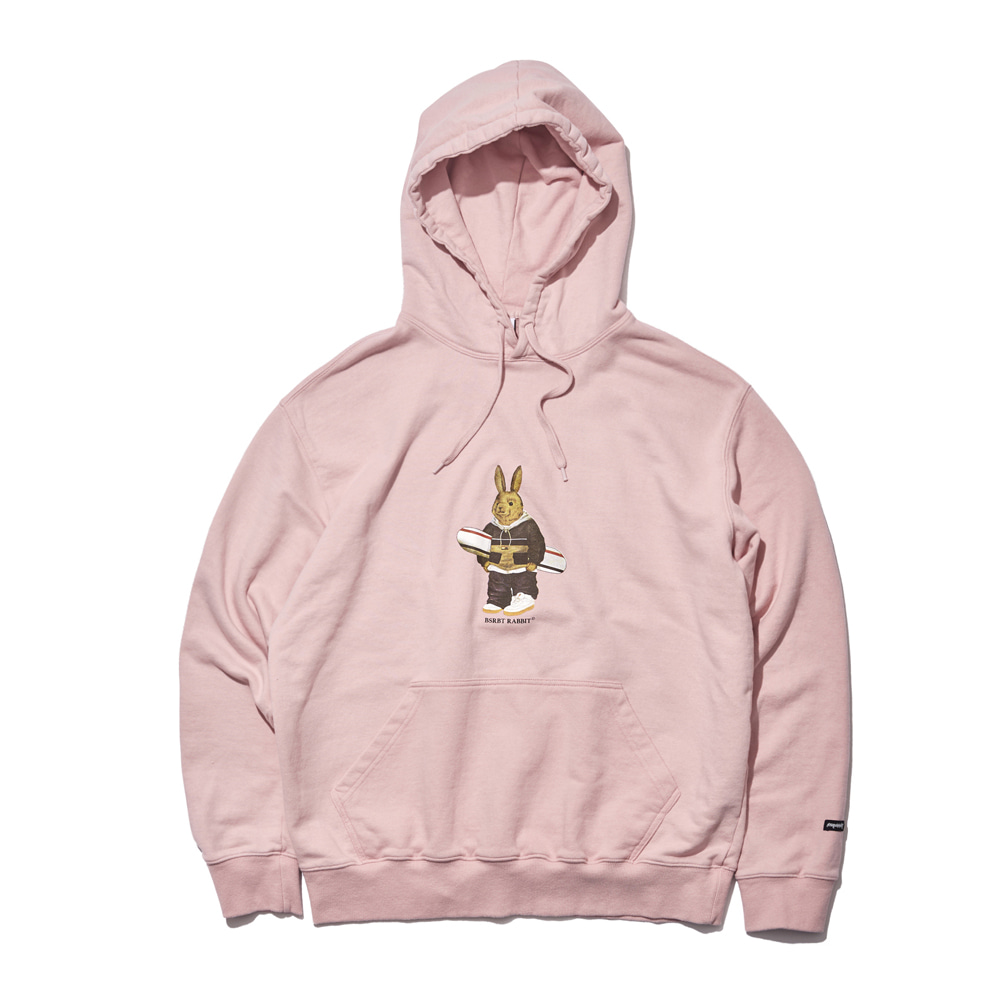ALWAYS BEAR RABBIT WELCOME DRY HOODIE INDY PINK