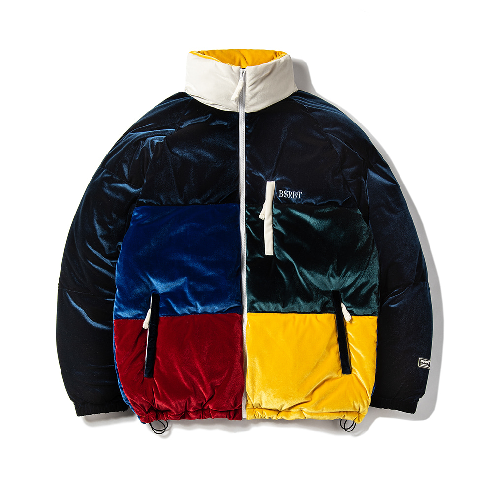 VELVET DUCK DOWN PARKA MULTI