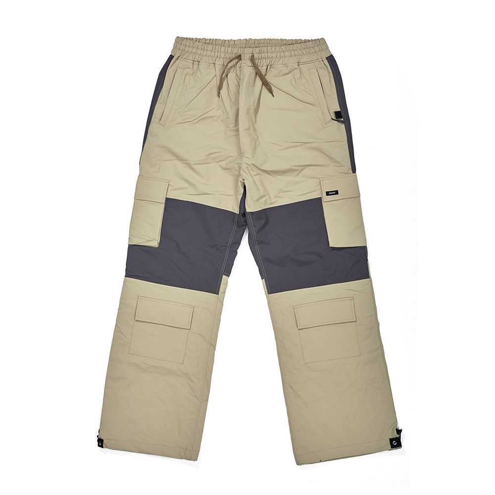 CARGO POCKET BOX TRACK PANTS SAND
