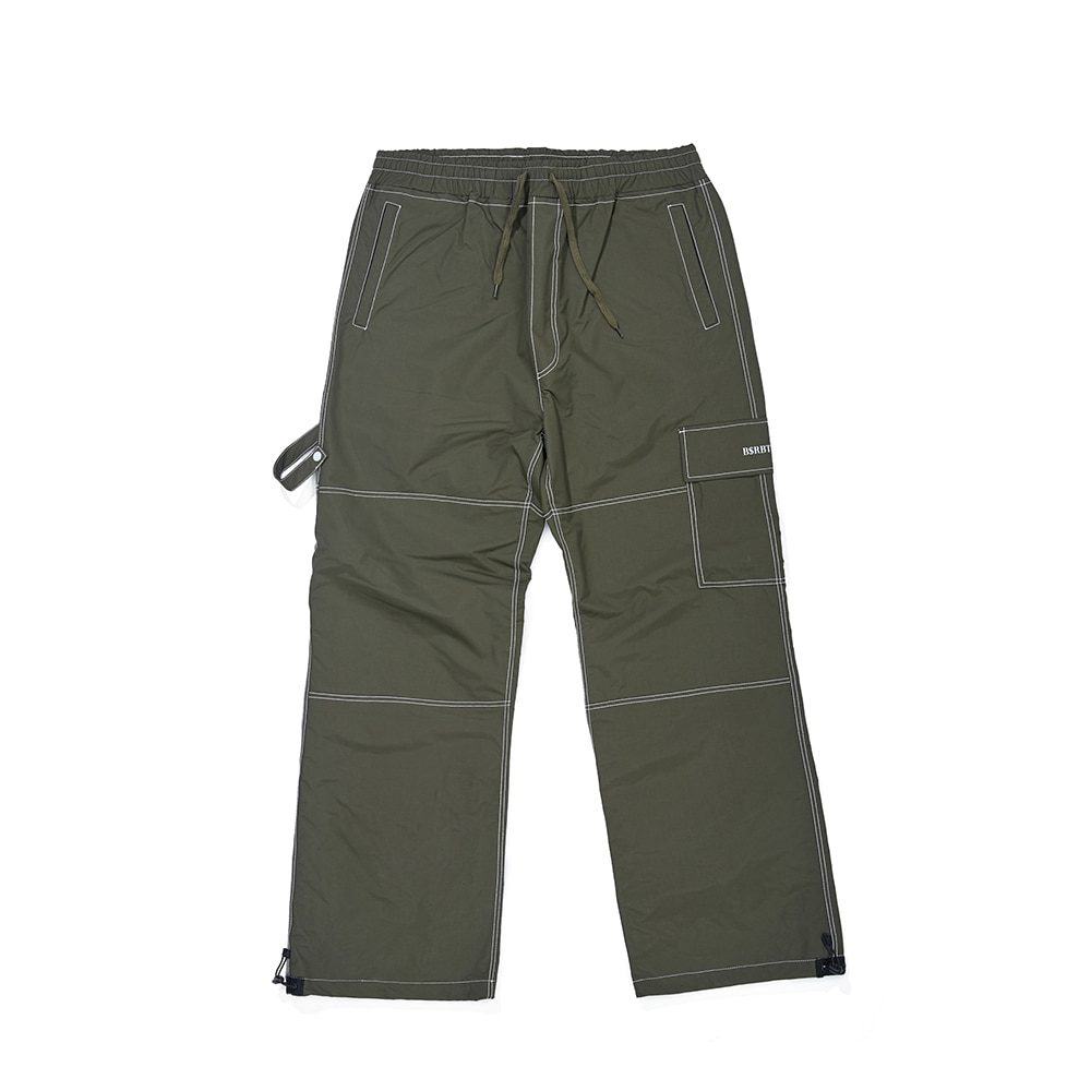 STITCH ONE POCKET TRACK PANTS OLIVE