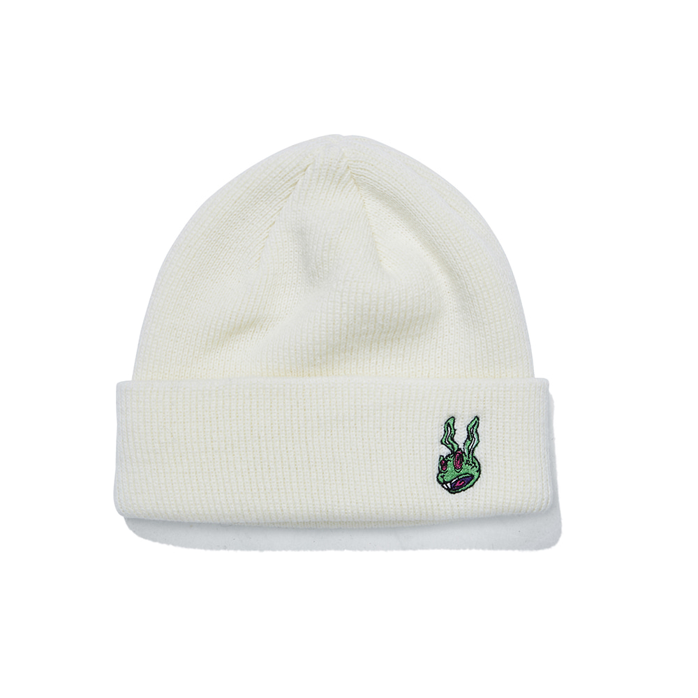 TRIPPY RABBIT BEANIE WHITE