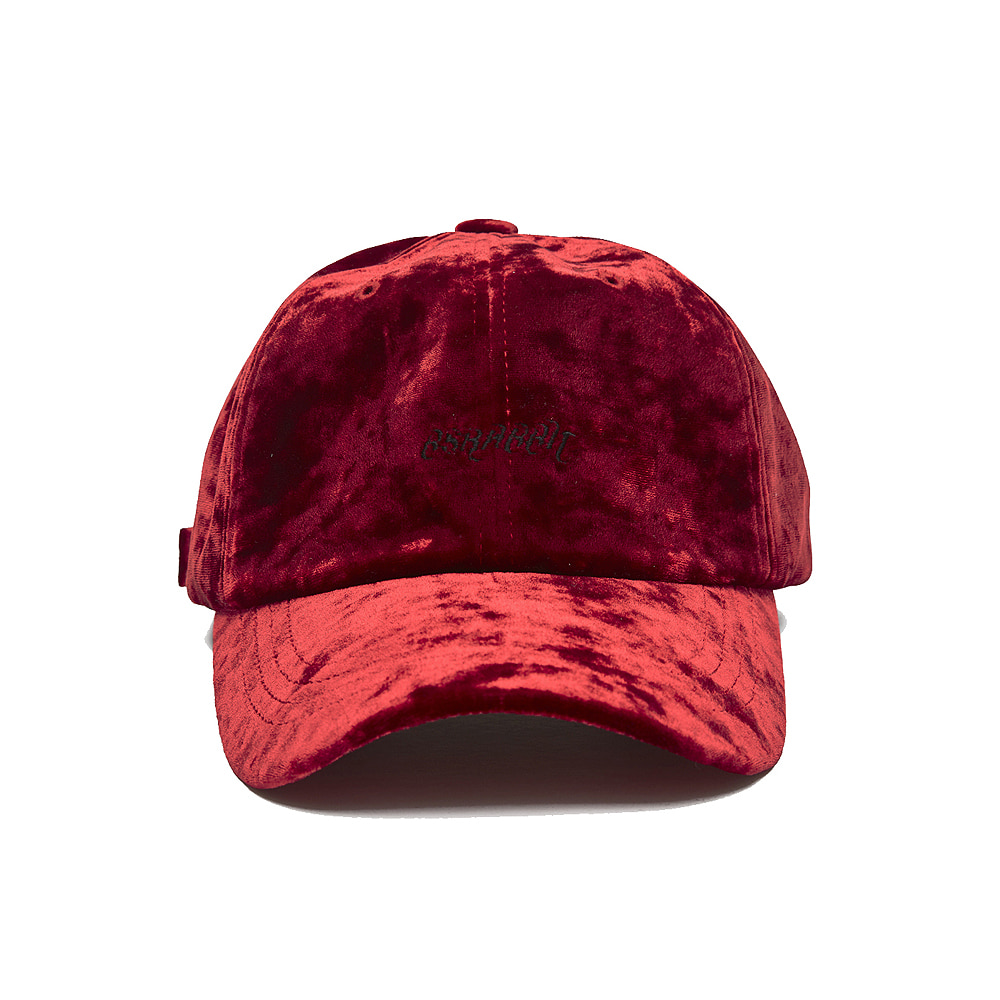 BLING VELVET LOGO CAP RED
