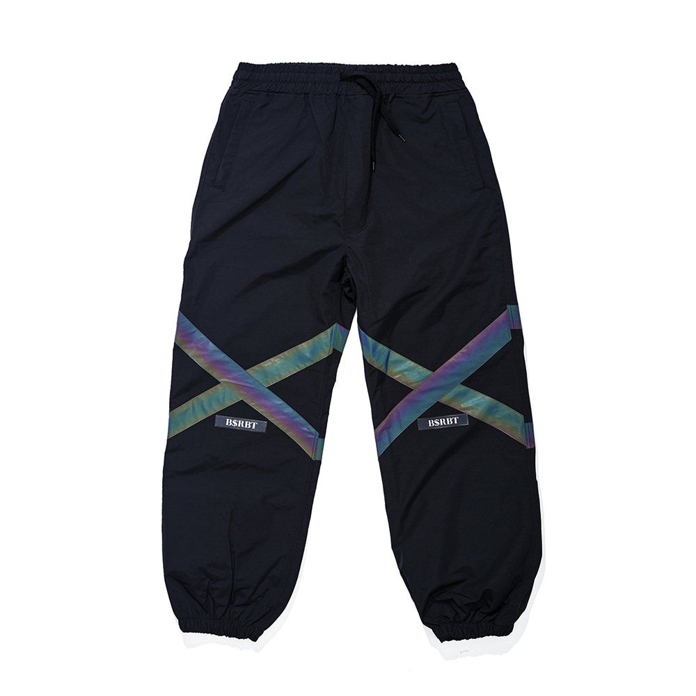POT-X RAINBOW REFLECTIVE JOGGER PANTS BLACK [Re-stocked and shipped on November 11th]