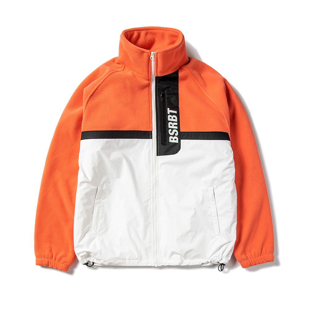 HALF FLEECE JACKET APRICOT