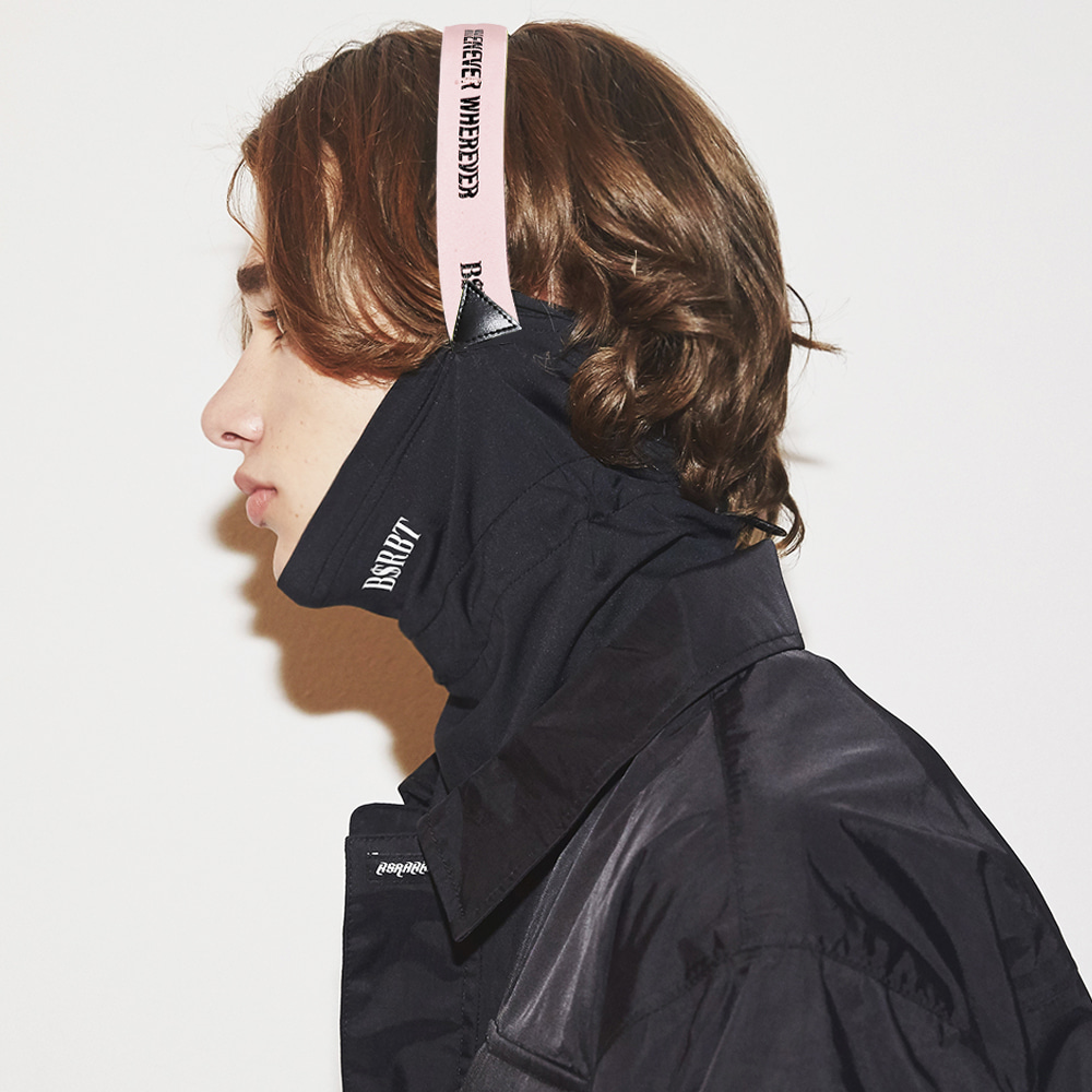 BSRBT V-LINE INNER POCKET LOGO BAND BALACLAVA [BABY PINK BAND] [No.2] [필터교체형]