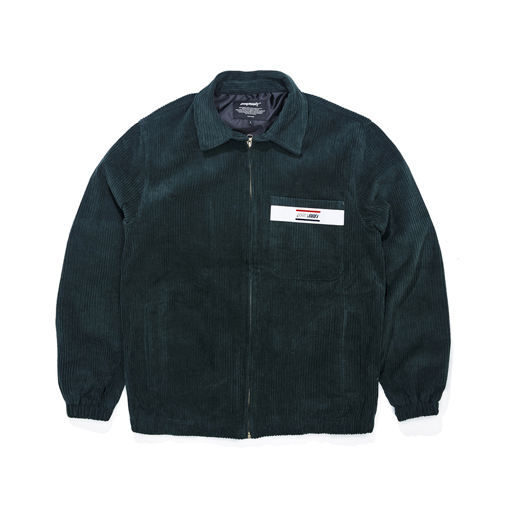 CORDUROY COLLAR JACKET GREEN