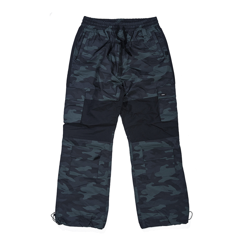 CARGO POCKET BOX TRACK PANTS GREEN CAMO