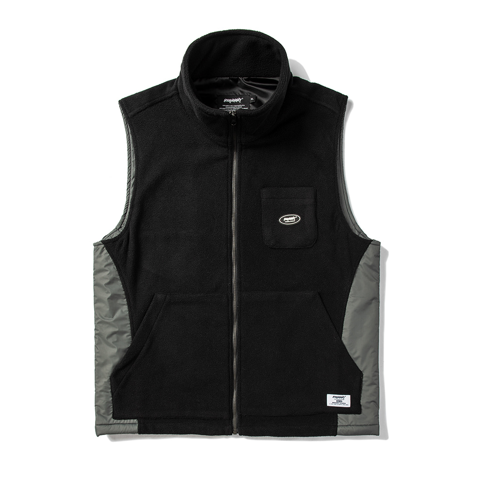 B714 FLEECE VEST BLACK