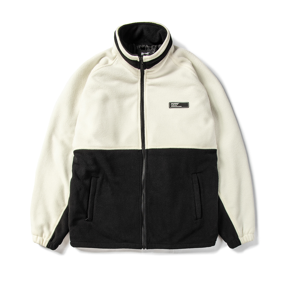 TOASTY FLEECE JACKET WHITE / BLACK