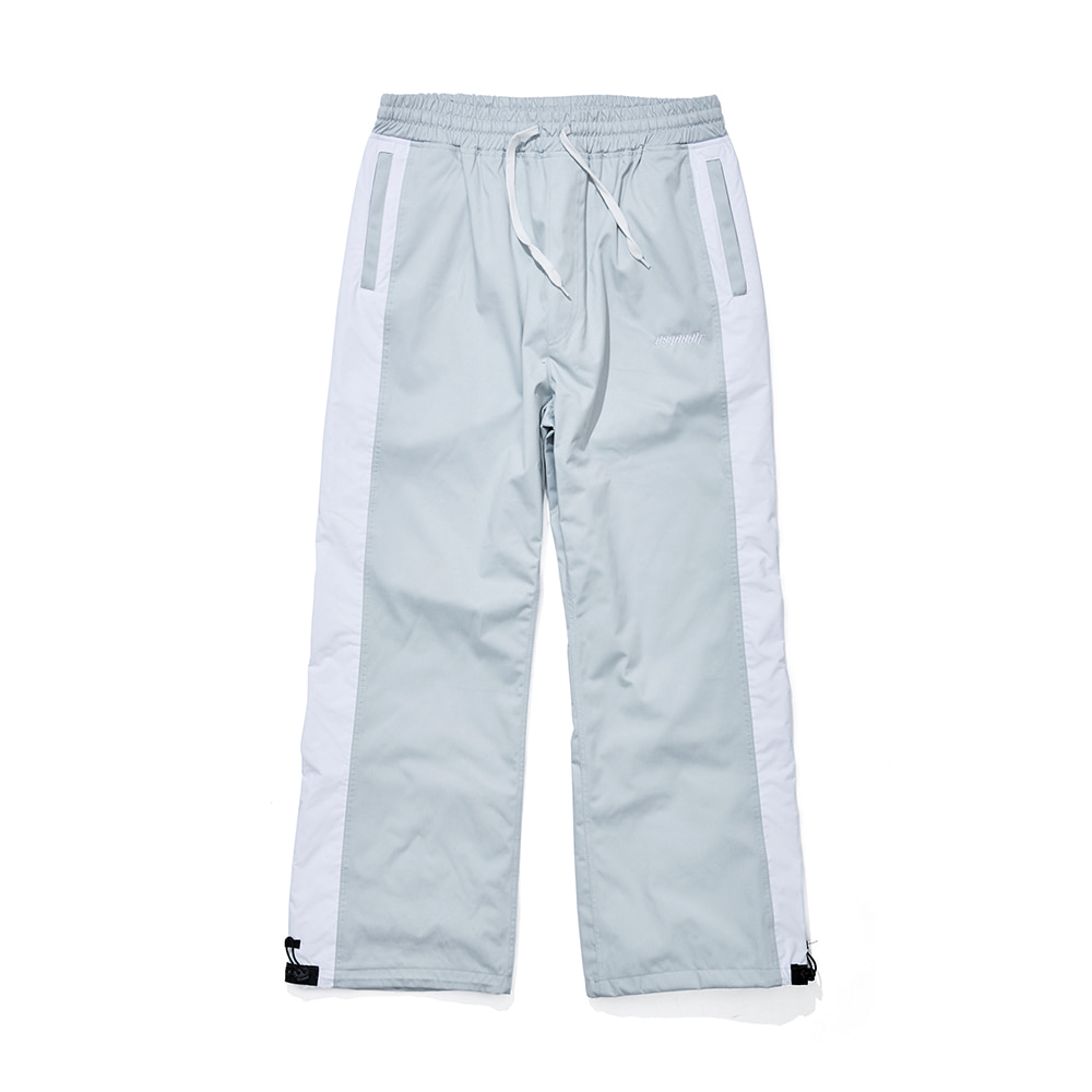 DENIM LINE TRACK PANTS SNOW GRAY