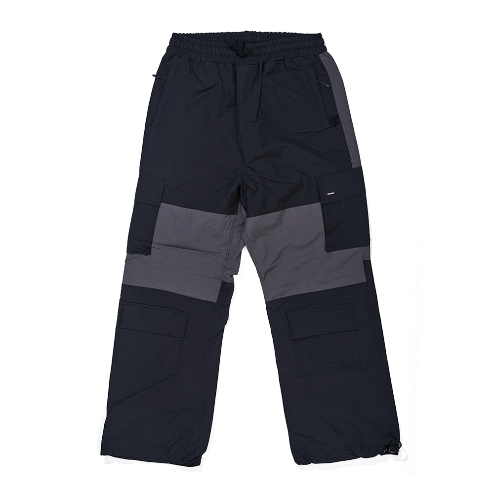CARGO POCKET BOX TRACK PANTS BLACK