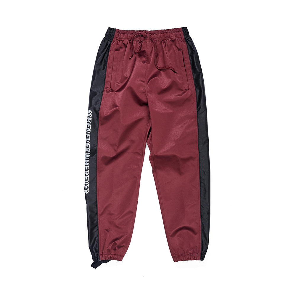 WW SHINE JOGGER PANTS BURGUNDY