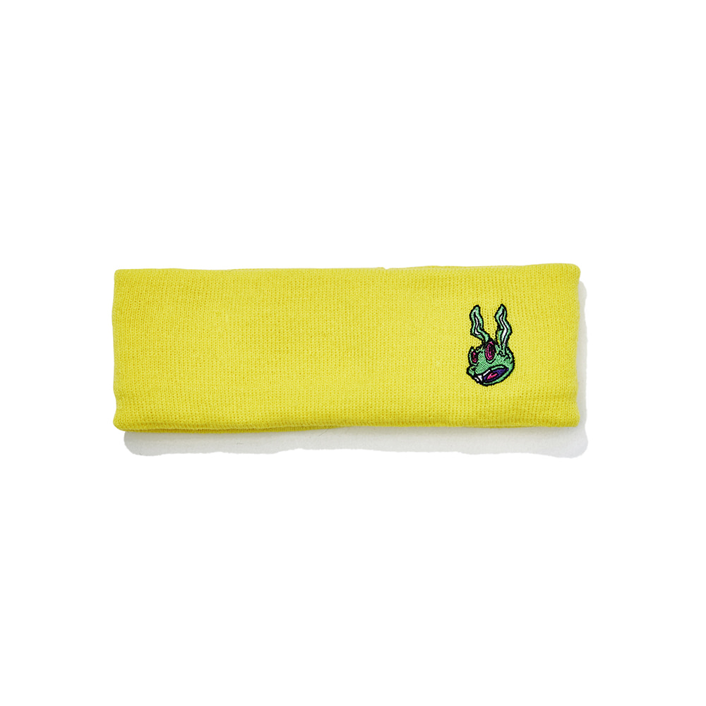 TRIPPY RABBIT HEADBAND YELLOW