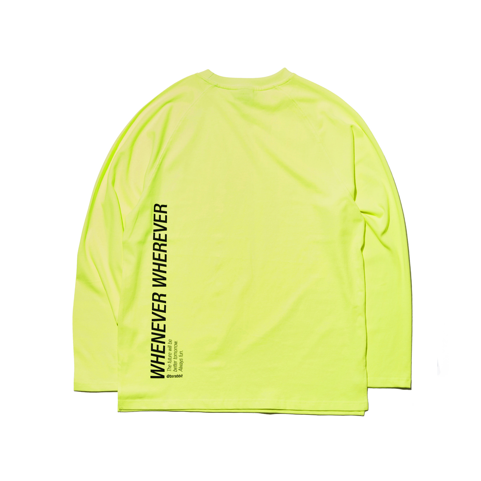 LOGO LAYERED LONG SLEEVE  TEE FLUORESCENCE