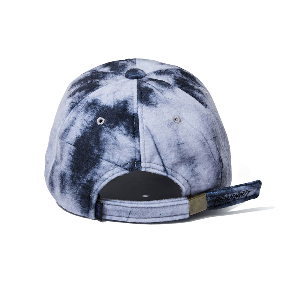 GR TIE DYE FLEECE CAP BLACK