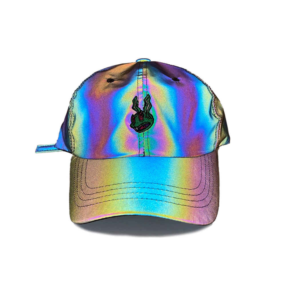 TRIPPY RABBIT CAP RAINBOW REFLECTIVE