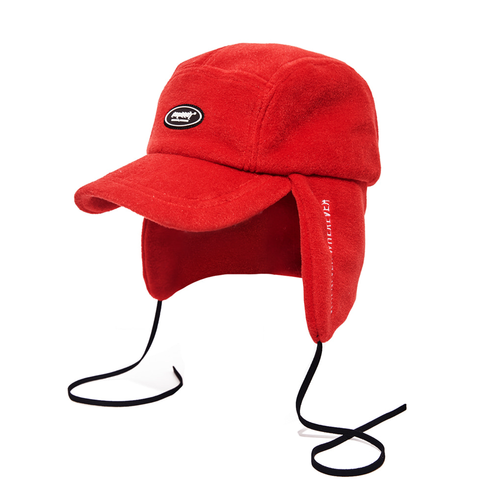 BSW FLEECE EARFLAP CAP RED