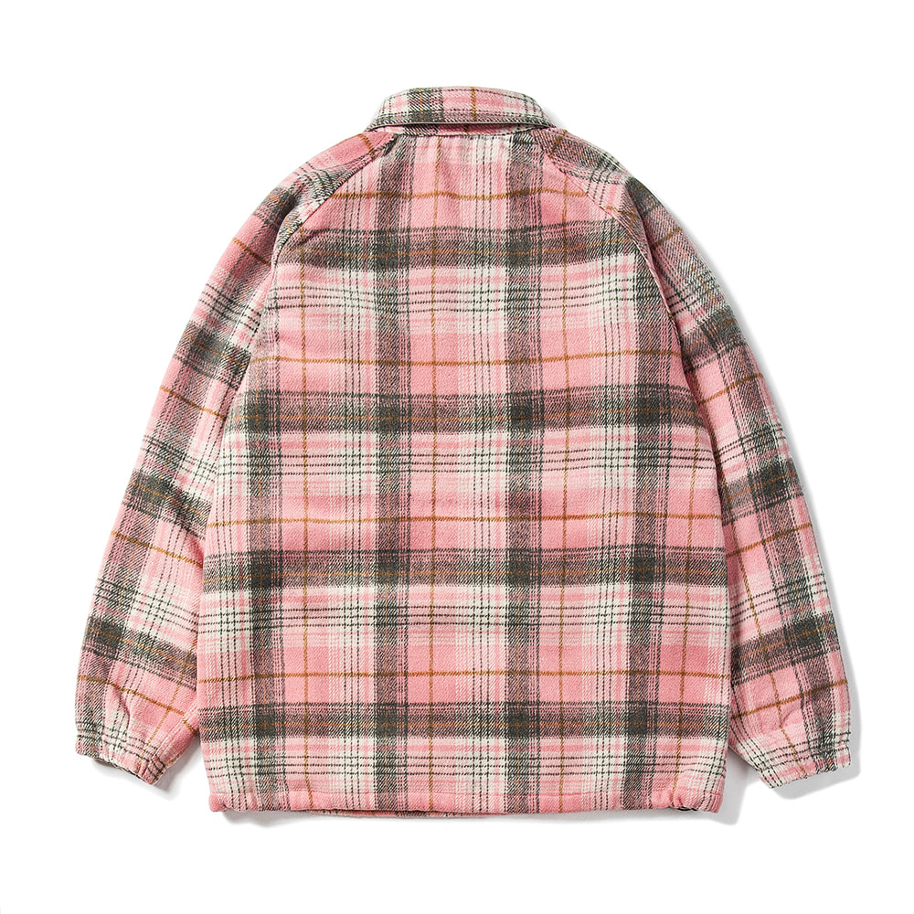 BETTER THAN CHECK ANORAK SHIRT PINK CHECK