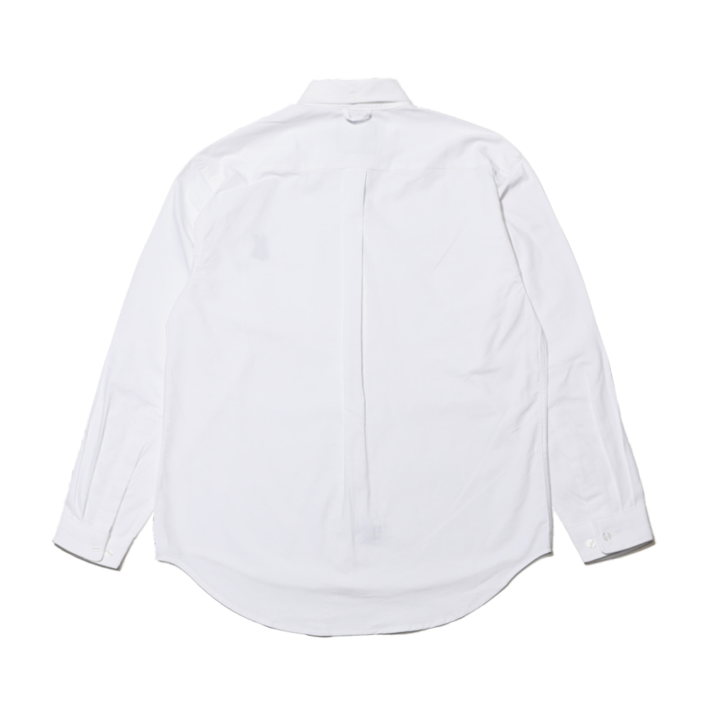 BEAR RABBIT SOLID OXFORD OVER SHIRT WHITE