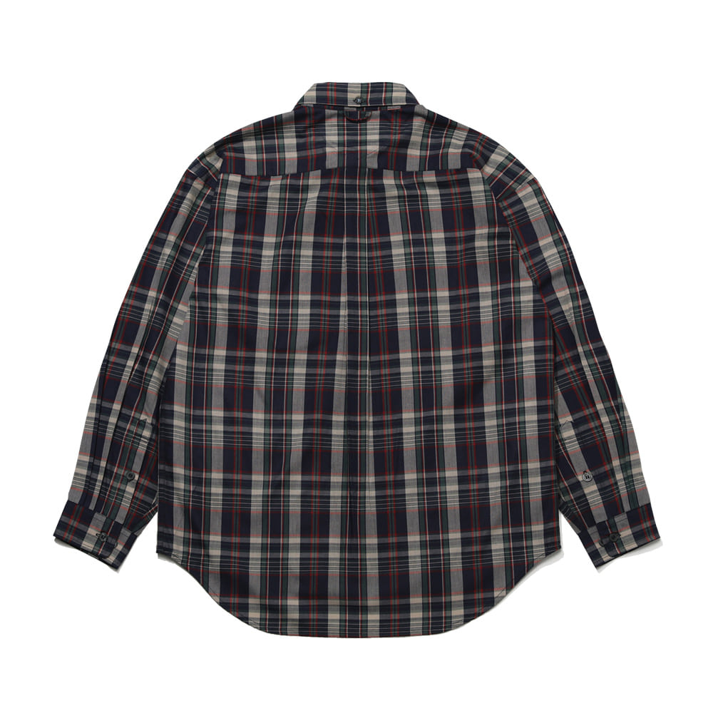 BEAR RABBIT CHECK OVER SHIRT IVORY/NAVY