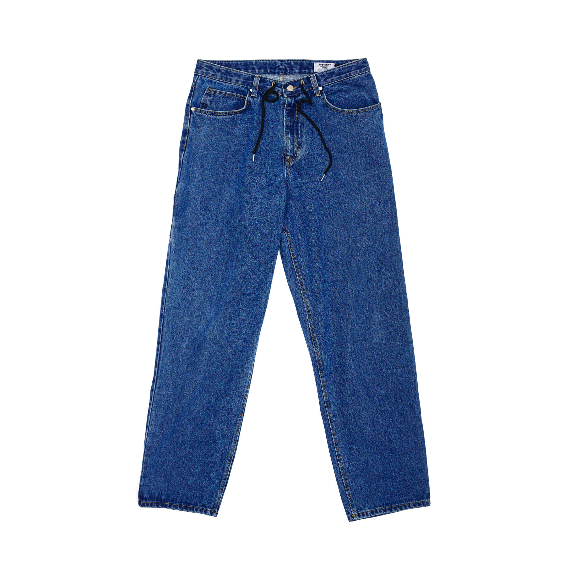 CARPENTER LOOSE FIT DENIM PANTS DEEP BLUE
