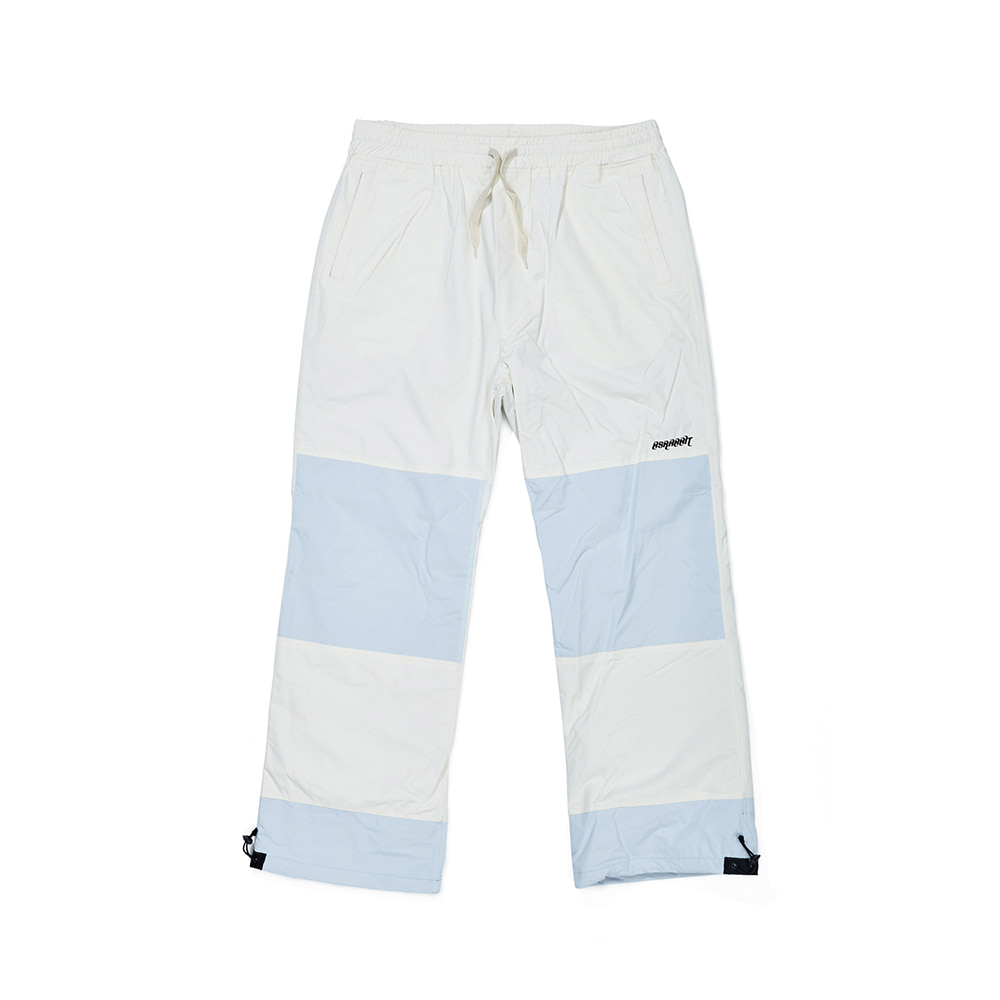 DOUBLE BOX TRACK PANTS WHITE / SKY