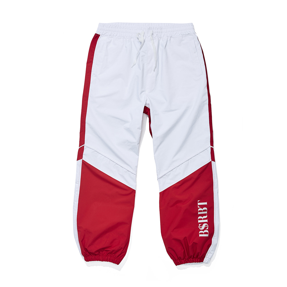 BSRBT JOGGER PANTS WHITE / RED