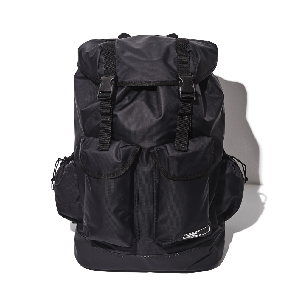 BSRABBIT TWO POCKET BACK PACK BLACK