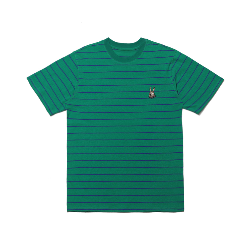 BEAR RABBIT STRIPE SST GREEN
