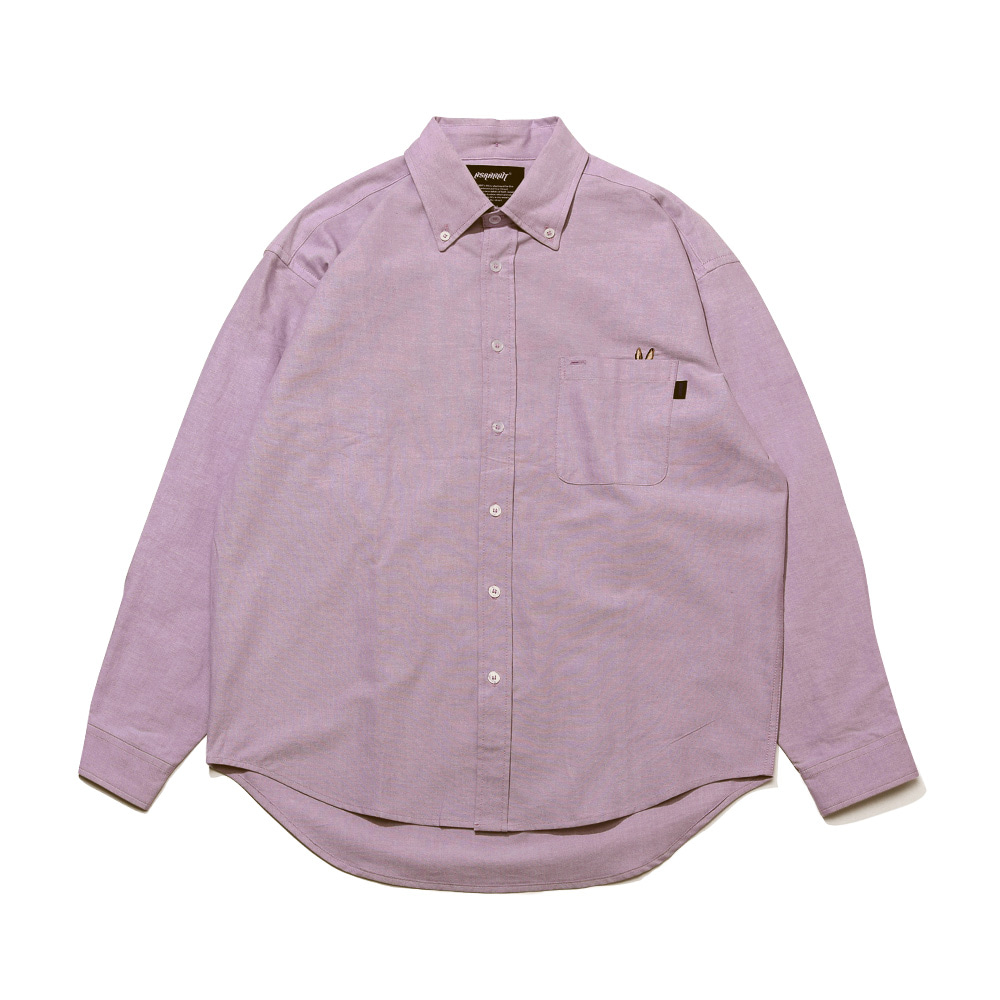 BEAR RABBIT SOLID OXFORD OVER SHIRT LT.PURPLE