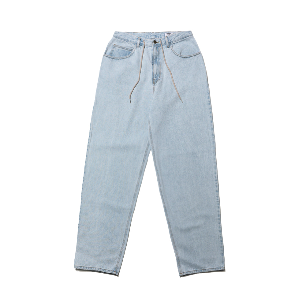 CARPENTER LOOSE FIT DENIM PANTS LIGHT BLUE