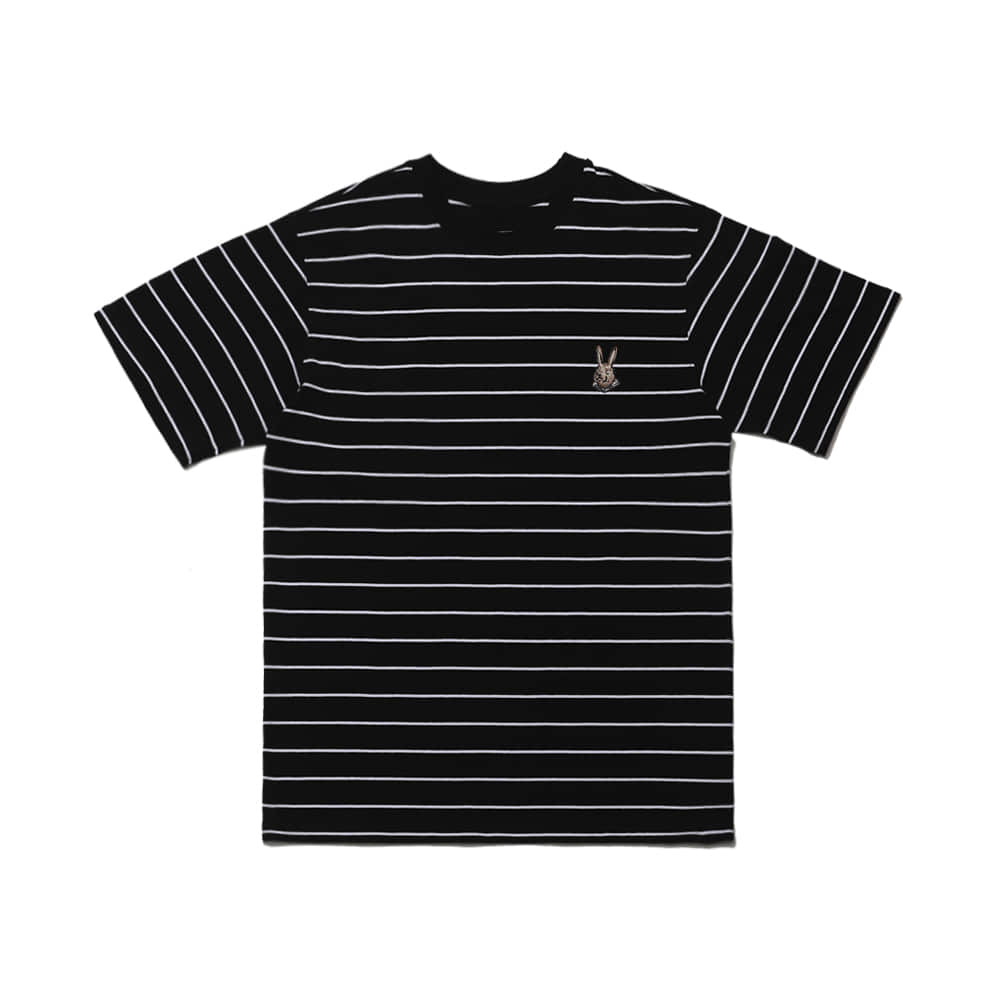 BEAR RABBIT STRIPE SST BLACK
