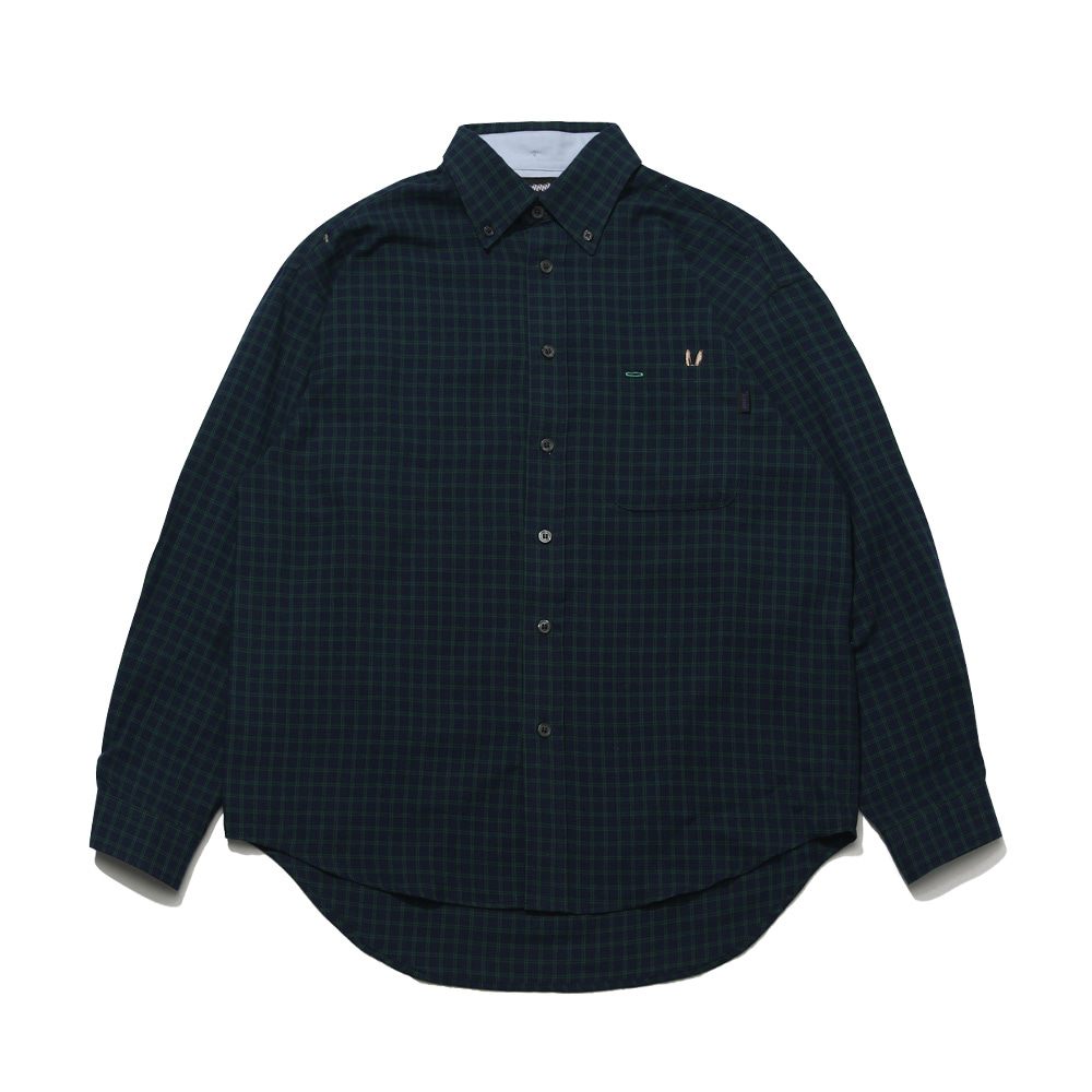 BEAR RABBIT CHECK OVER SHIRT NAVY